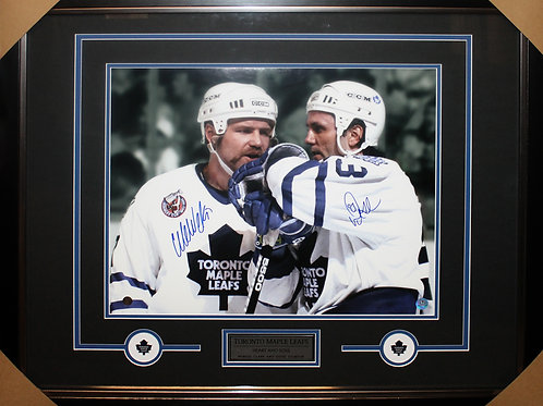 Doug Gilmour/Wendel Clark Dual Signed 16x20 Frame