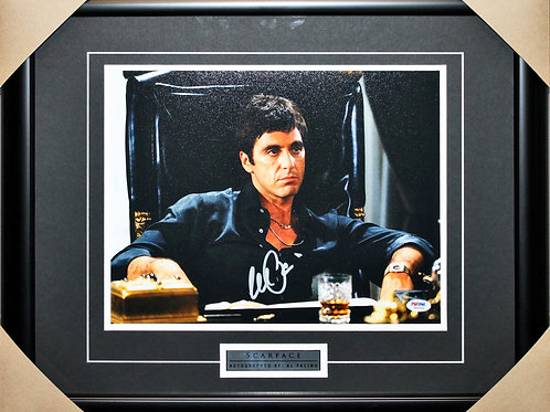 Al Pacino Signed 11x14 Scarface Chair Frame