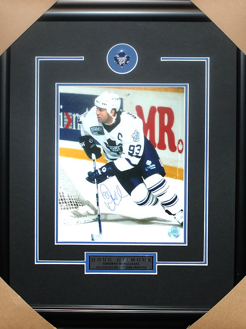 Doug Gilmour Signed 8x10 Action Frame
