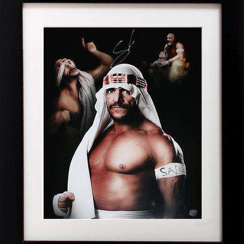 Sabu Signed 16x20 Collage Frame
