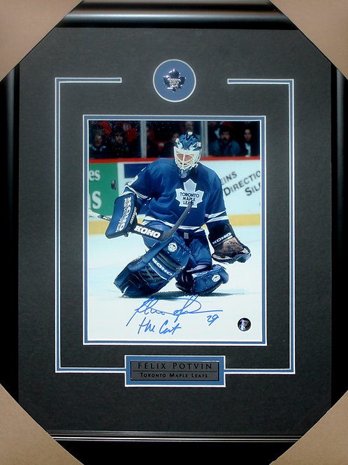 Felix Potvin Signed 8x10 Action Frame