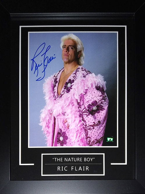 Ric Flair Signed 8x10 Graphic Frame