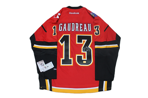 Johnny Gaudreau signed Home jersey