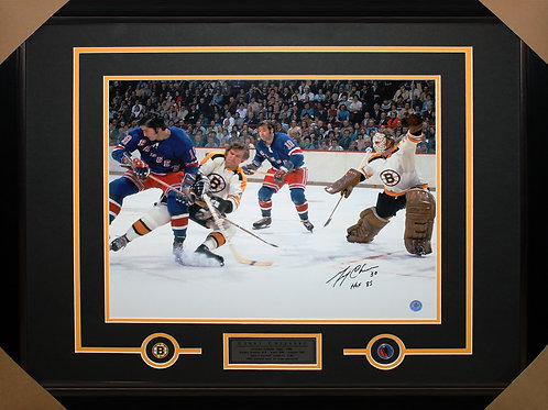 Gerry Cheevers Signed 16x20 Action Frame