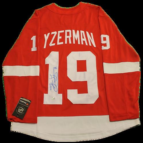 Steve Yzerman Signed Home Jersey