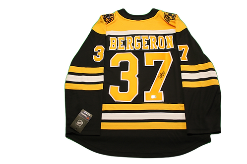 Patrice Bergeron Signed Home Jersey