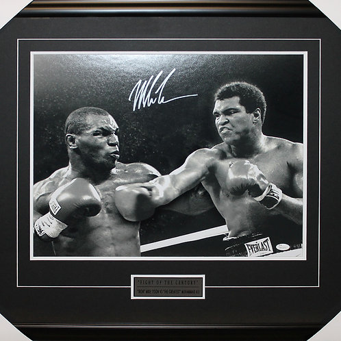 Mike Tyson Signed 16x20 Ali Frame