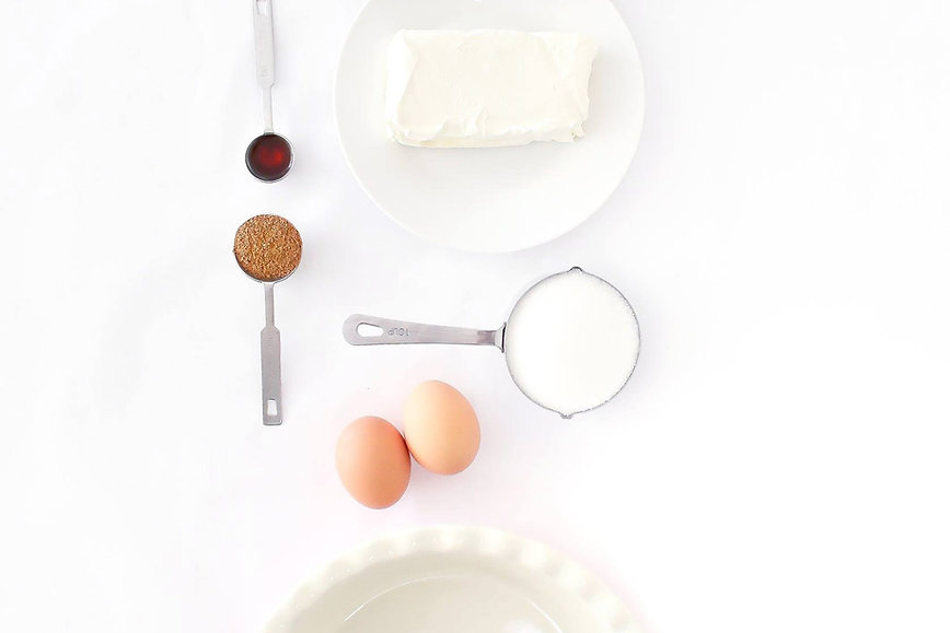 Aerial View of Baking Ingredients