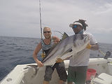 Roosterfish deep sea fishing in playas del coco