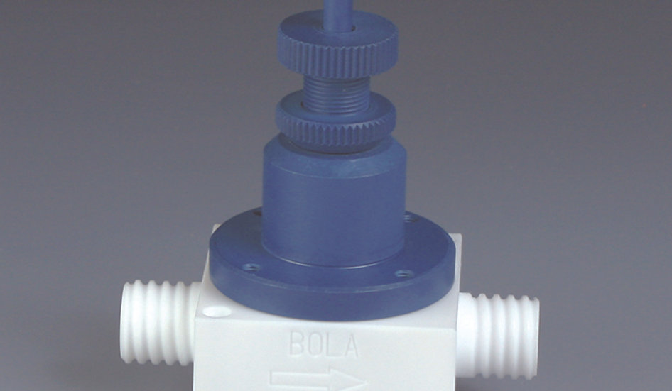 BOLA Pressure-Relief Valve with Manual Ventilation, PTFE, PPS