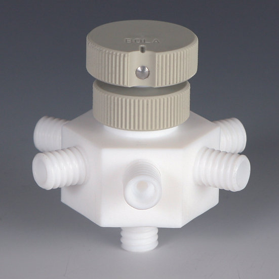 BOLA GL-Distributor with Stopcock, PTFE, PP