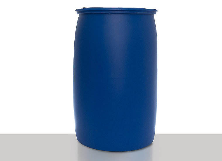 Plastic tight head drum with degassing valve, 220,0 liter and UN Approval