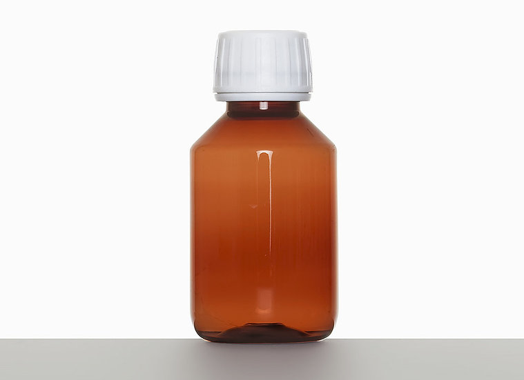 PET bottle, cylindrical, 100 milliliter