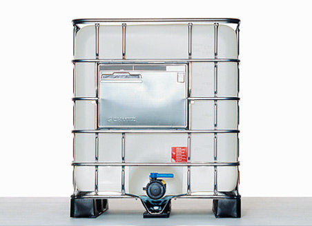 IBC Container MX 1000 with nominal volume 1.000,0L 150,0 mouth, and UN Approval