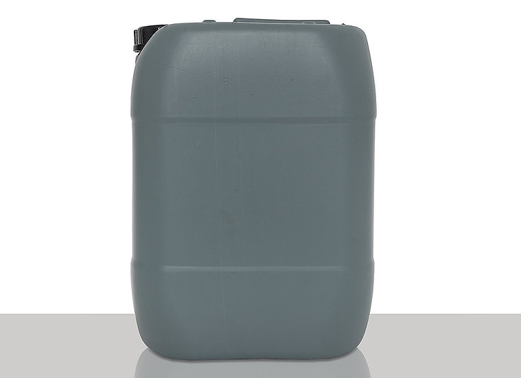 Recycled PCR plastic canister, 20,0 liter