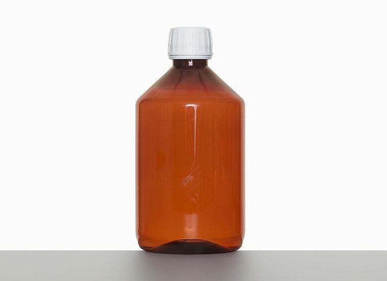 PET bottle, cylindrical, 500 milliliter