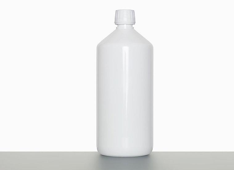 PET bottle, cylindrical, 1,0 liter