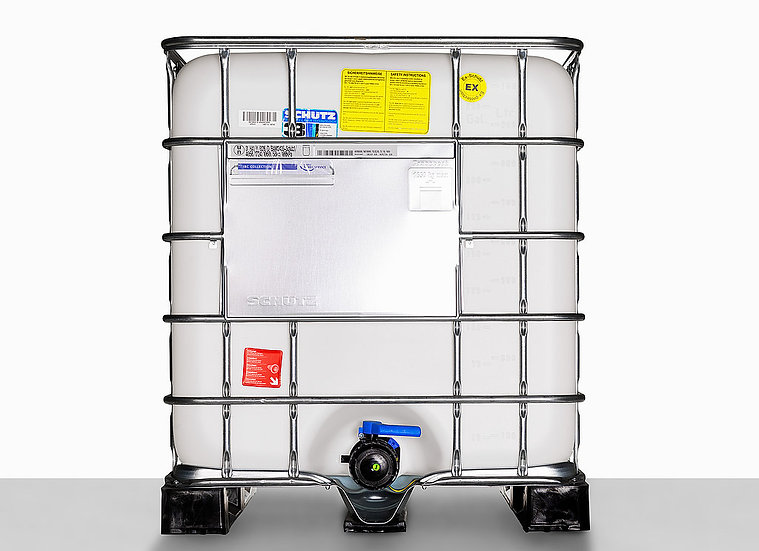 IBC Container SX1000 GG EX Black, volume 1.000,0L mouth 225,0mm and UN Approval