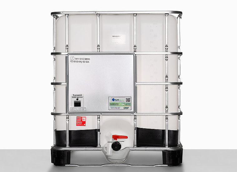 IBC Container 1000G Hybrid with nominal volume 1.000,0 liter and UN Approval