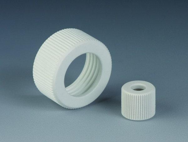 BOLA Screw Caps with Aperture, PTFE/Glass-fibre