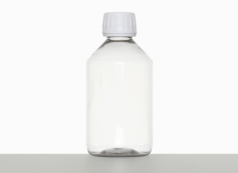 PET bottle, cylindrical, 250 milliliter