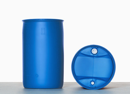 Plastic tight head drum with degassing valve, 225,0 liter and UN Approval