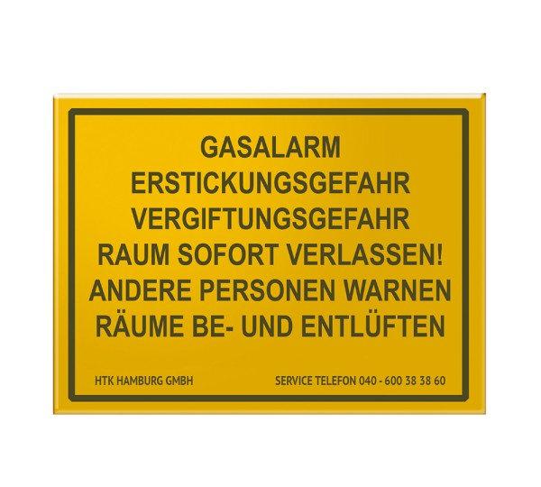 """Gas alarm"" sign"