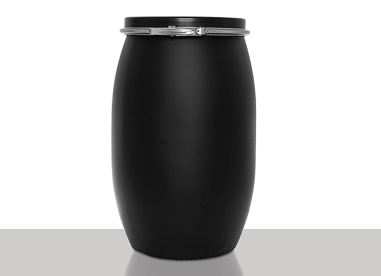 Open head drum, 120,0 liter black and UN Approval