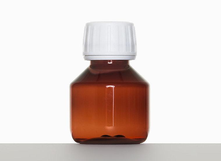 PET bottle, cylindrical, 50 milliliter