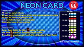 Erron - Neon Card Game Rules