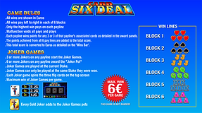 Six Deal Game rules