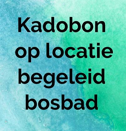 Kadobon op locatie begeleid bosbad