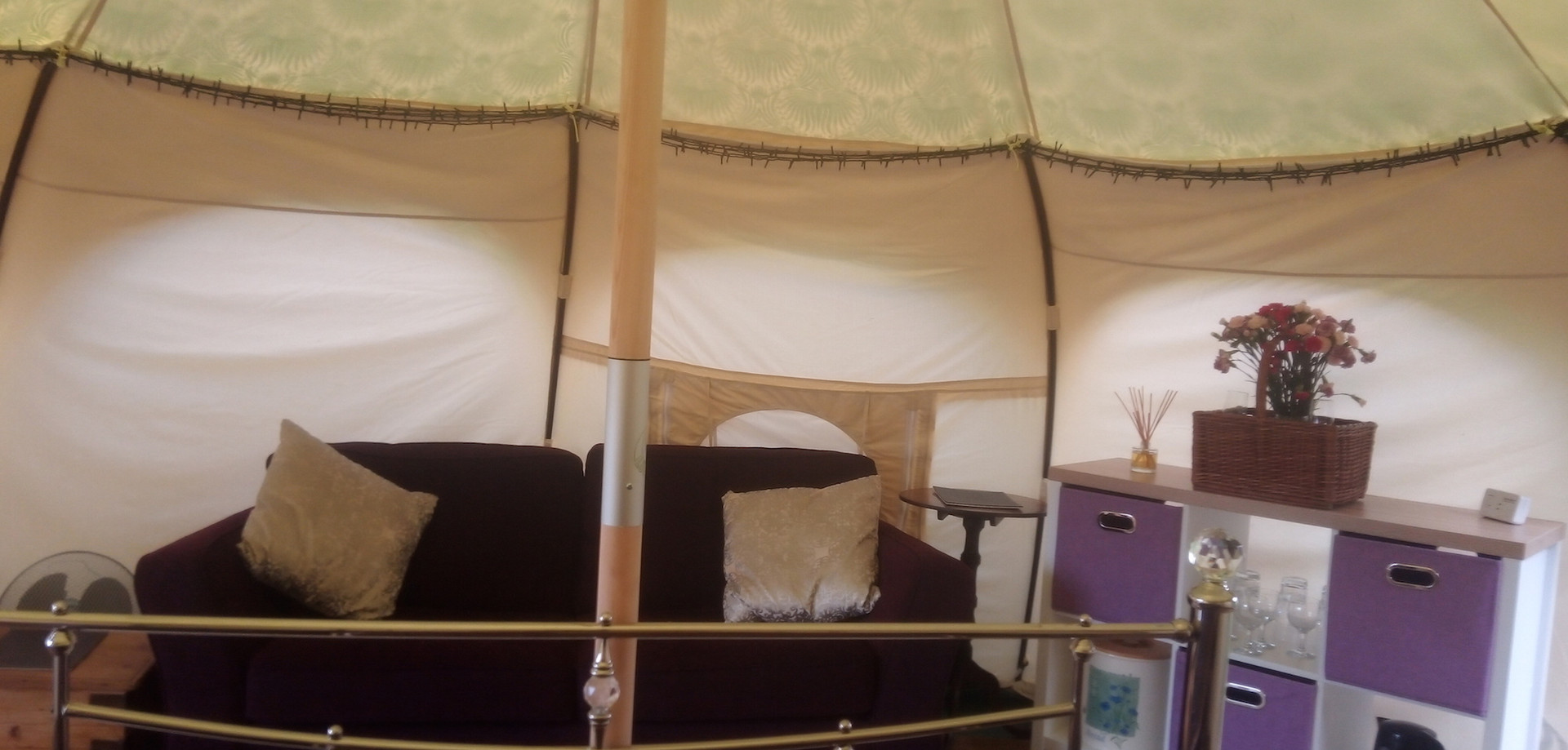 Full double bed with soft bedding provided