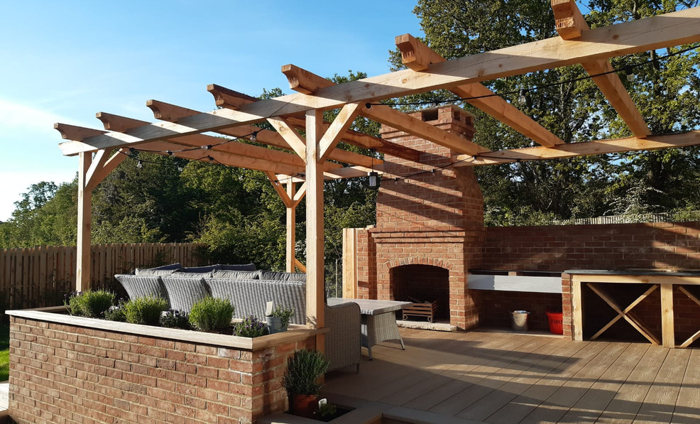 Fantastic outdoor entertainment or relaxation area
