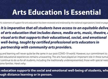 Arts Education is Essential: A Joint Statement from NAfME, ACDA, and our Arts Education Partners