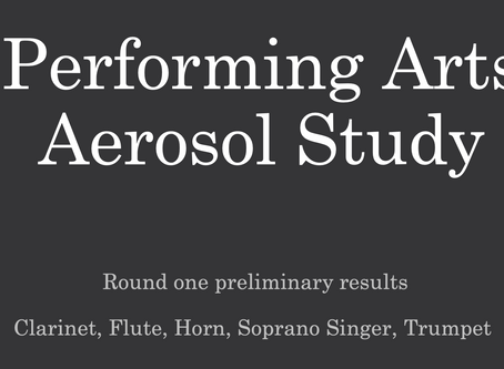 Performing Arts Aerosol Study:  Preliminary Testing Report