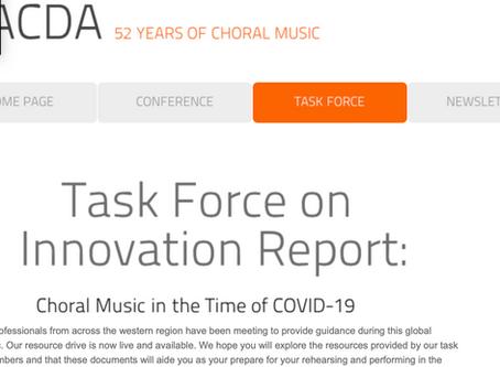 Western ACDA: Task Force on Innovation
