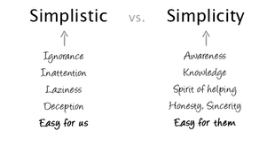 Why the Desire to Simplify Can Inhibit Innovation