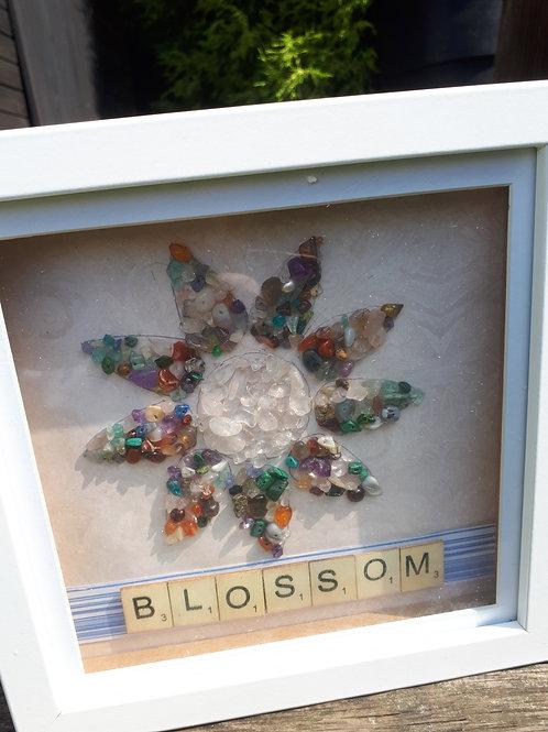 Blossom flower multi-gem artwork