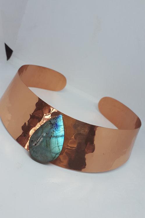 Copper labradorite collar necklace