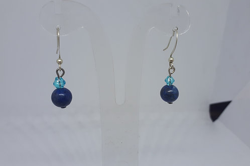 Silver plated lapis lazuli earrings