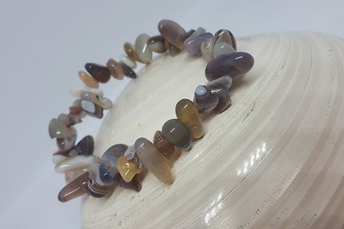 Botswana agate nugget stretchy bracelet