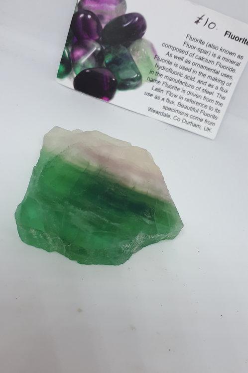 Fluorite polished slab