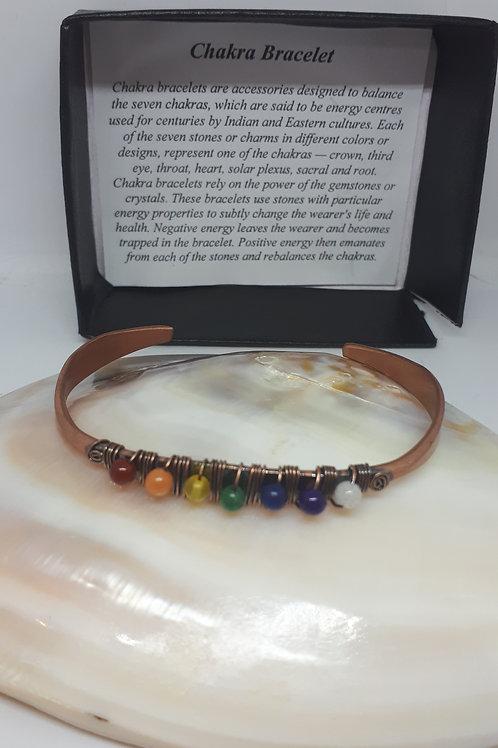 Copper chakra wirework bangle