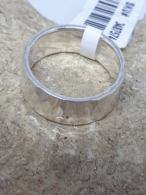 Sterling silver band ring 4.30grams - Uk size J