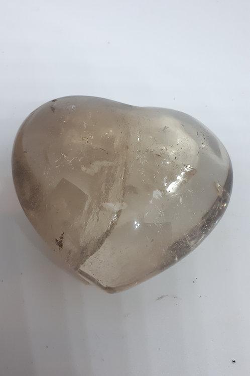 Smokey quartz heart
