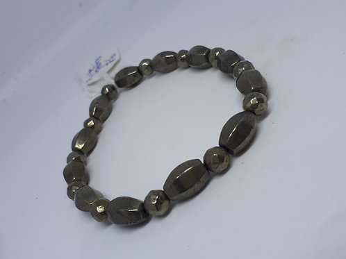 Pyrite stretchy bracelet