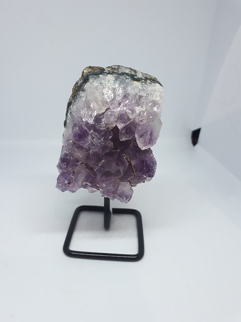 Amethyst on a stand