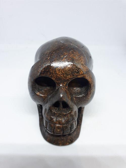 Tiger iron carved skull