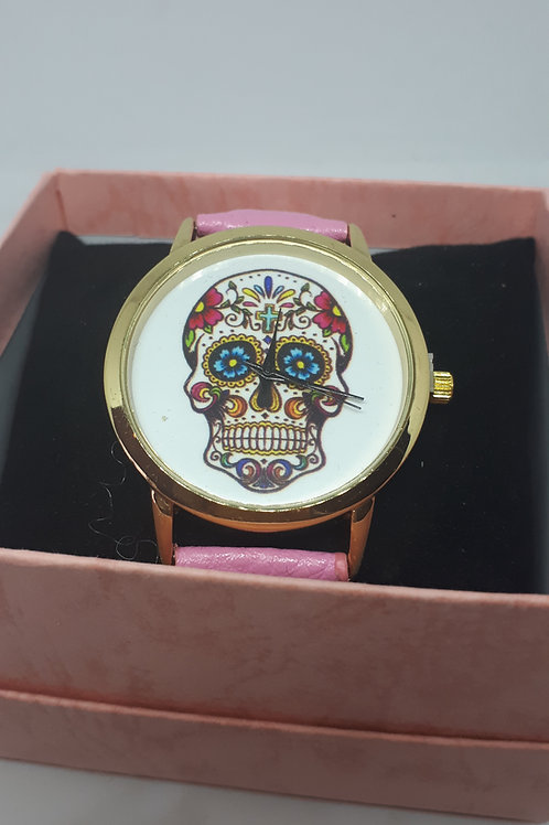 Ladies day of the dead skull watch